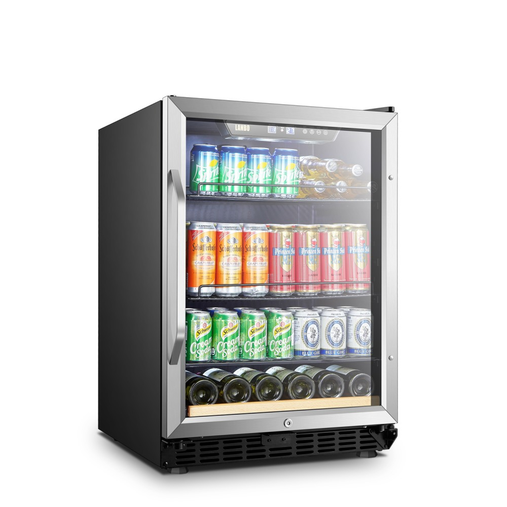 NewAir-Lanbo 110 Cans 6 Bottles Beverage Cooler - LB148BC