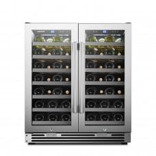 Lanbopro 62 Bottle Dual Door Wine Cooler - LP66D