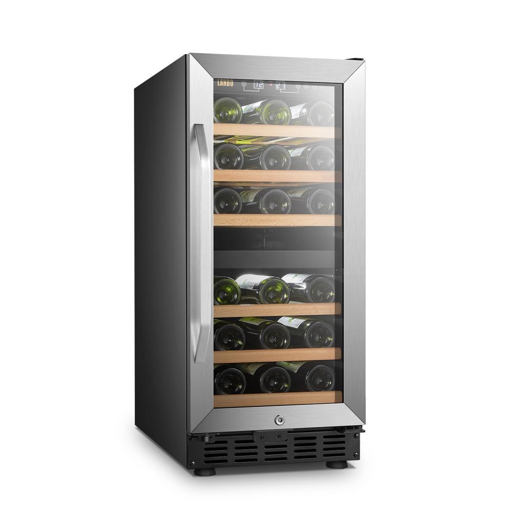 Lanbo 28 Bottle Dual Zone Wine Cooler - LW28D