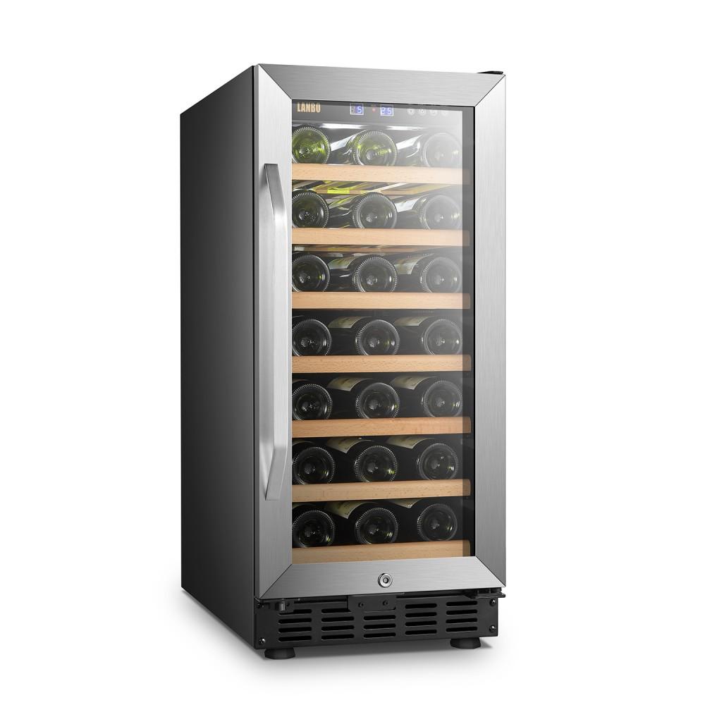 Lanbo 33 Bottle Single Zone Wine Cooler - LW33S