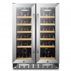 Sinoartizan 36 Bottle Dual Door Wine Cooler Fridge ST-36D