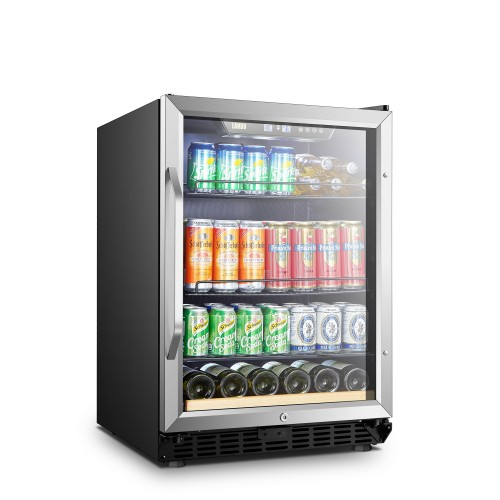 Lanbo 24 Inch 110 Cans 6 Bottles Beverage Cooler