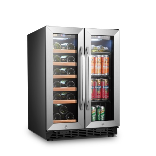 Lanbo 24 Inch Wine and Beverage Side by Side Cooler