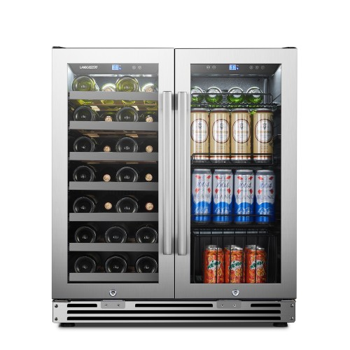 Lanbopro 30 Inch Dual Zone Wine and Beverage Cooler
