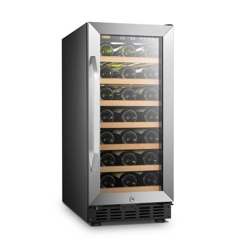 Lanbo 15 Inch 33 Bottle Single Zone Wine Cooler